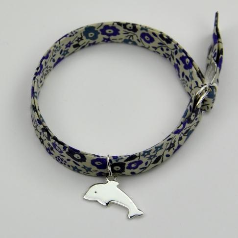 Dauphin sur bracelet Liberty