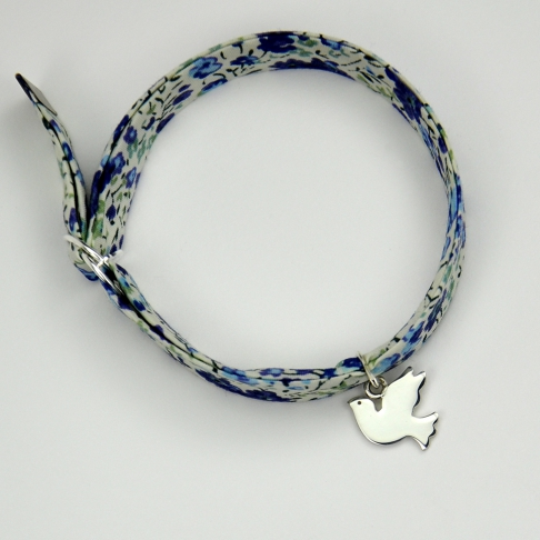 Charms Colombe sur bracelet Liberty