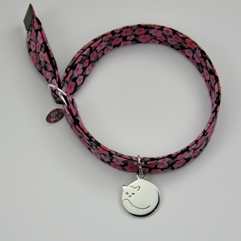 Charms Chat rond sur bracelet Liberty
