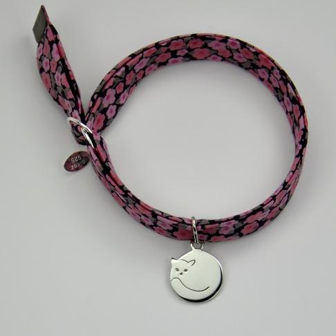 Chat rond sur bracelet Liberty