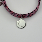 Chat rond sur bracelet Liberty