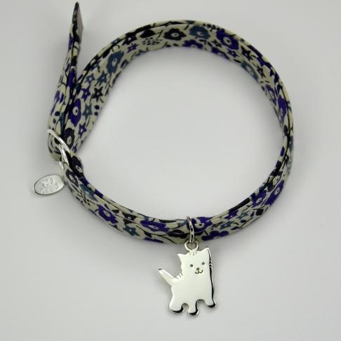 Chaton sur bracelet Liberty
