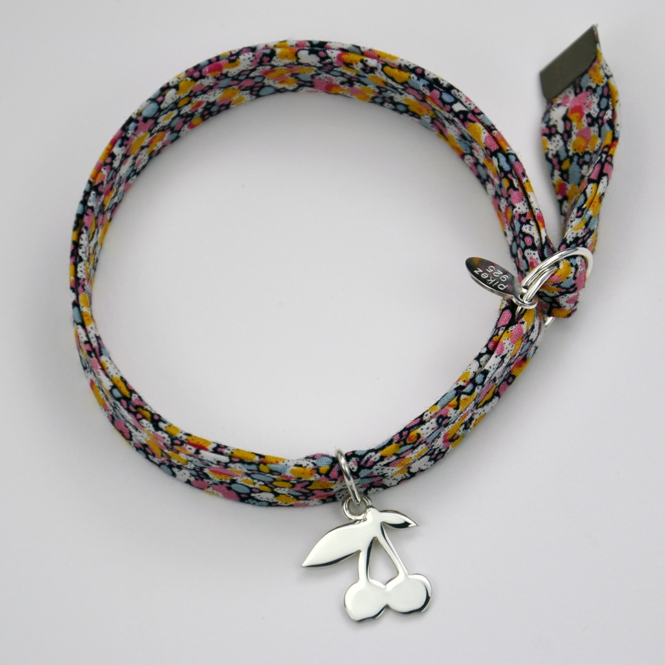 Cerises sur bracelet Liberty