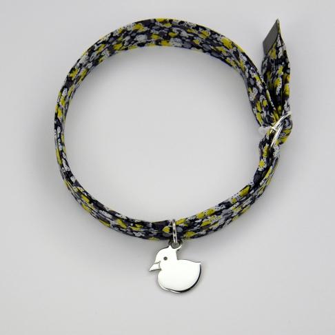 Charms Caneton sur bracelet Liberty