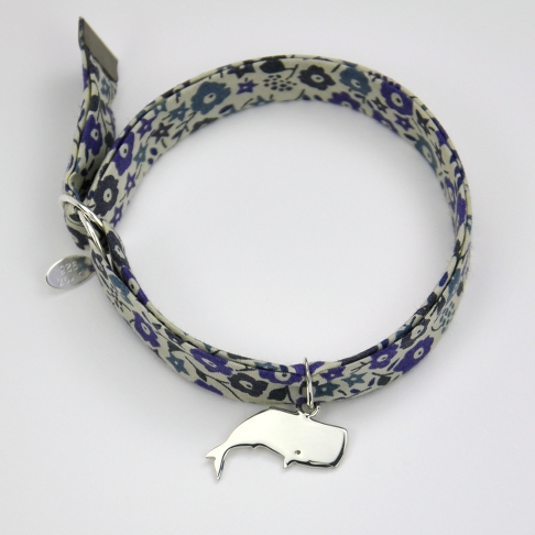 Charms Cachalot sur bracelet Liberty
